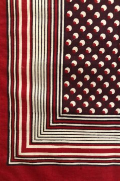 ~early 20th c. printed cotton scarf