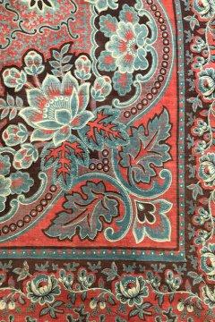~19th c. printed indigo cotton scarf