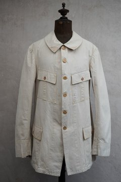 cir.1920's-1930's beige cotton 4 pockets jacket