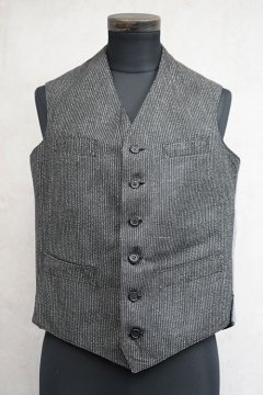 1930's-1940's salt&pepper striped boy's gilet dead stock