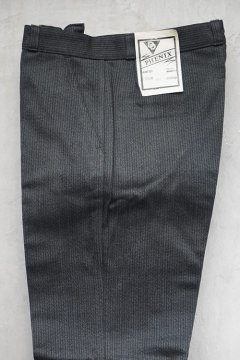 1950's-1960's gray pique work trousers dead stock