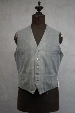 ~1930's gray cotton work gilet