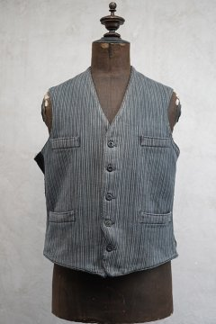 mid 20th c. striped pique work gilet