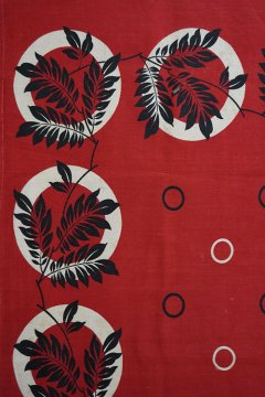 ~1930's printed red scarf