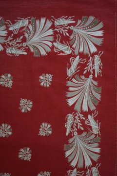 early 20th c. printed red scarf