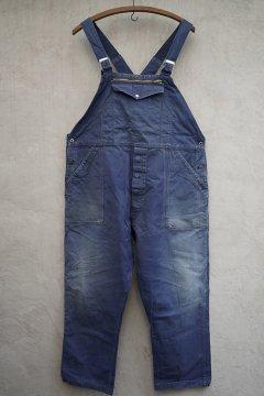 mid 20th c. blue cotton twill salopette