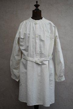 cir.1940's French military white linen smock H.M. dead stock