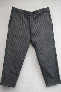 mid 20th c. striped pique work trousers