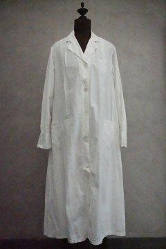 1930's-1940's white cotton work coat