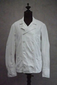 cir.1940's double breasted white cotton jacket