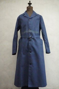 1940's blue linen cotton work coat dead stock