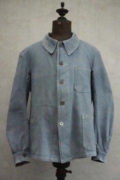 1930's blue cotton linen work jacket