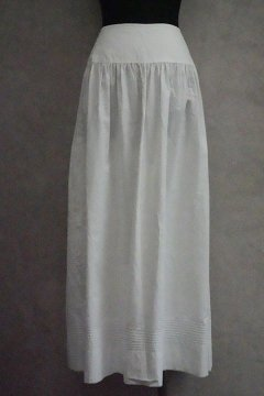 late 19th c-early 20th c. white long skirt