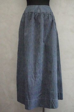 19th c. indigo striped skirt