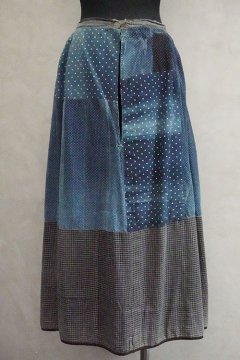 early 20th c. patched indigo skirt