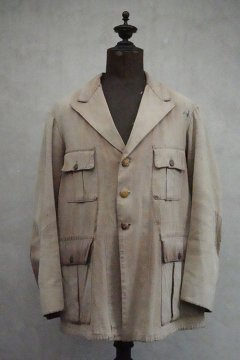 1920's-1930's brown cotton twill hunting jacket