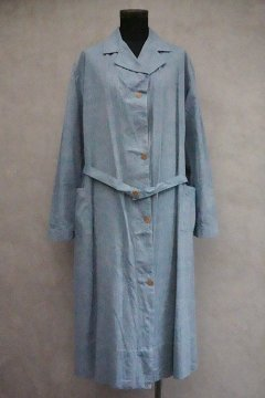 1930's-1940's indigo cotton chambray work coat dead stock