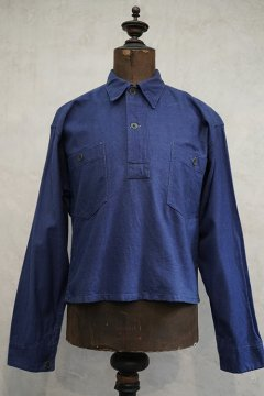 ~1940's blue cotton twill pullover top