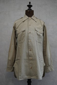 1940's-1950's French army linen cotton shirt