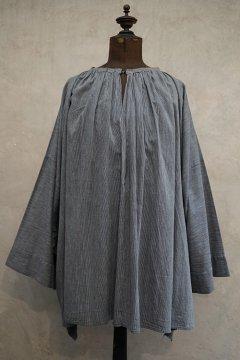 cir.1930's striped blue cotton smock