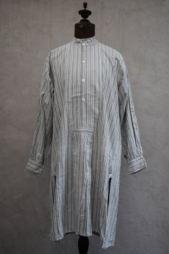 early 20th c. gray striped cotton shirt