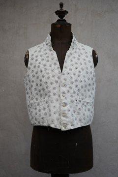 19th c. printed cotton gilet