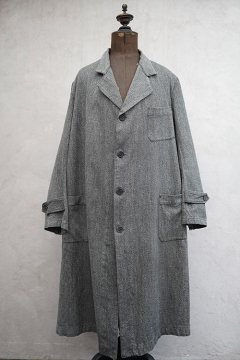 1940's salt&pepper cotton atelier coat