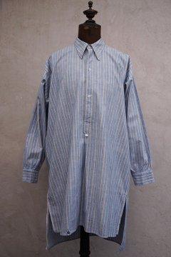 1930's-1940's striped cottonblue shirt