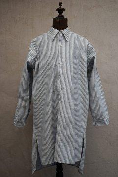 1930's blue striped cotton shirt dead stock