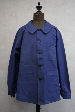 1930's-1940's blue cotton work jacket dead stock