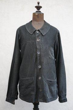 ~1930's black moleskin work jacket
