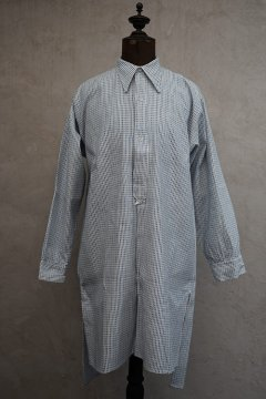 1930's-1940's blue striped cotton shirt dead stock