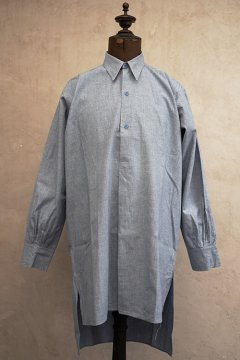 1930's-1940's light blue cotton shirt dead stock