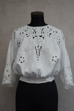 1910's linen cutwork blouse