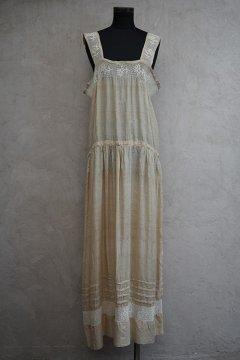 1920's beige silk cami dress
