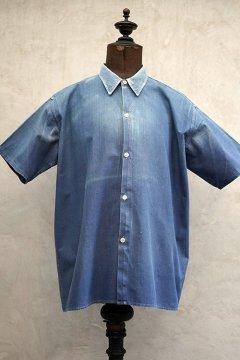 cir.1940's blue cotton work shirt S/SL