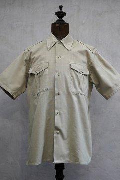 cir. mid 20th c. kahki cotton shirt S/SL