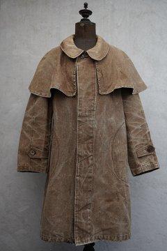 cir.1940's brown linen cape coat