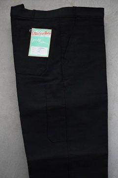 mid 20th c. black moleskin work trousers dead stock
