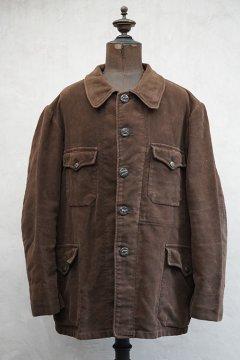 1940's-1950's brown velveteen hunting jacket