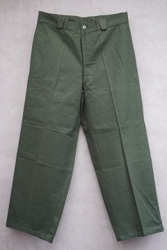 cir.1940's French militaly kahki cotton work trousers