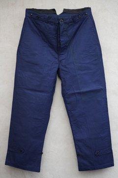 1940's blue cotton work trousers dead stock