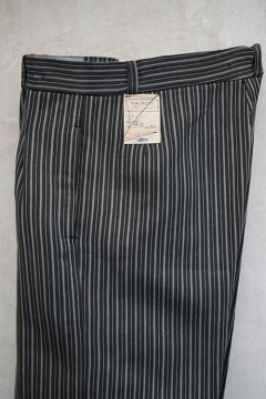 1940's striped pique work trousers dead stock