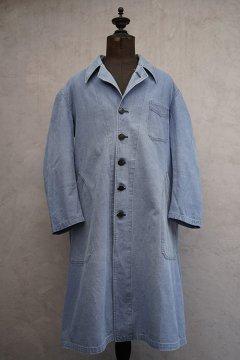 cir.1940's pale blue linen cotton work coat