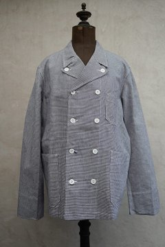 cir.1960's houndstooth cotton double breasted work jacket dead stock
