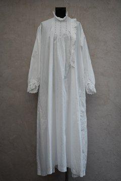 early 20th c. white dress L/SL