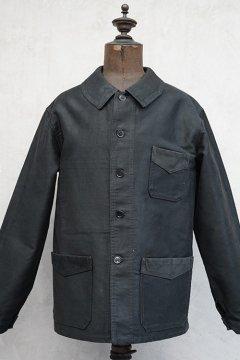 1940's-1950's black moleskin work jacket