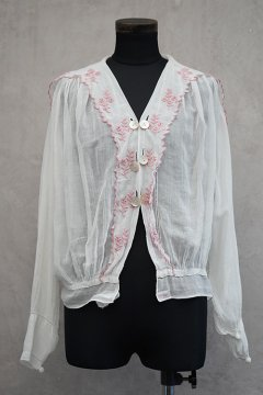1910's-1920's pink embroidered blouse