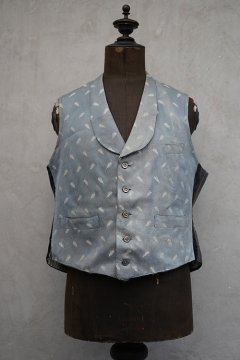 early 20th c. pale blue silk gilet