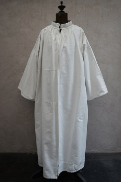 early 20th c. white cotton linen smock
